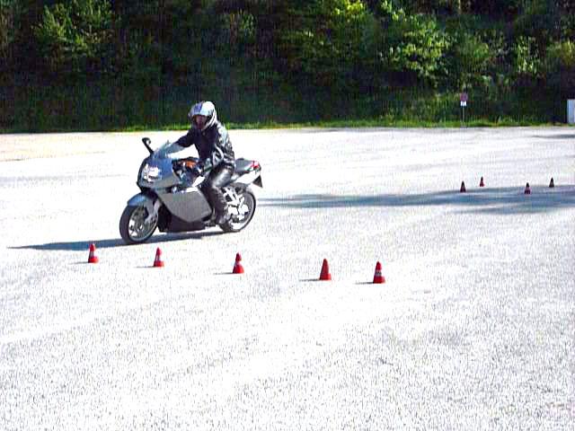 Hindernis Motorrad